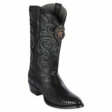 Los Altos Men's Genuine Teju Lizard Round Toe Boots Cowboy Western Medium (D)