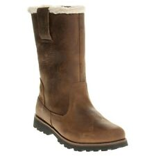 New Girls Timberland Tan 8` Pull-On Waterproof Leather Boots Pull On