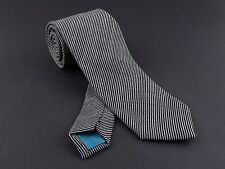 Handmade Classic Wide & Skinny BLACK STRIPED TIE from Penelope`s Bow Ties