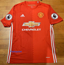 Manchester United Home Red Jersey Ibrahimovic Pogba Mata Rooney 2016/2017