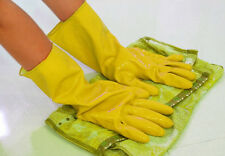Hot Orange Rubber Dishwashing Gloves Yellow Waterproof Laundry Protective Clean
