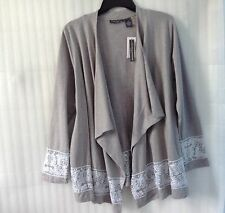 NWT $98~ Chelsea & Theodore~Gray FALL WINTER Cover Up Cardigan Plus Top 18 20 1X