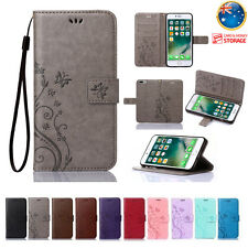 Leather Magnetic Flip Wallet Cards Holder Stand Case Cover For iPhone 6S/7 Plus