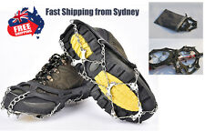 Anti Slip 8 Teeth Snow Climbing Fishing Shoe Spike Grip Chain Crampon Cleat GT