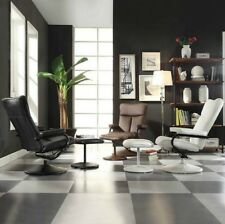 Leather Chair Recliner Modern Reclining Chair w/ Ottoman Living Room Furniture