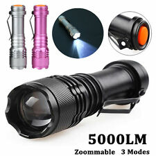 5000LM CREE Q5 AA/14500 3 Modes Zoomable LED Flashlight Super Bright Torch Lamp