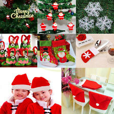 Various Xmas Decoration Santa Clause Hat Chair Cover Candy Bag Christmas Gifts