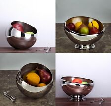 Homestia Ball Shape 304 Stainless Steel Fruit Food Bowl Kitchen Table Snack Bowl