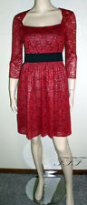 Marc New York NWT Szs 4 6 8 14 Red Poinsettia Lace Sleeve Dress $148 New 5060