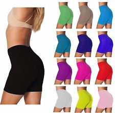 Womens Cycling Shorts Ladies Cycle Dancing Cotton Elastane Shorts Leggings 8-16