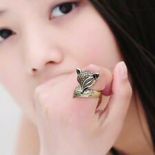 Fox Ring Gold or Silver Tone Cute Animal Quirky Indie Retro Ring