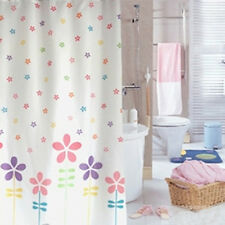 Multicolor Floral Flowers Design Bathroom Waterproof Fabric Shower Curtain