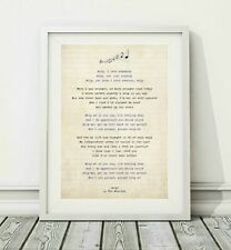 240 The Beatles - Help - Song Lyric Art Poster Print - Sizes A4 A3