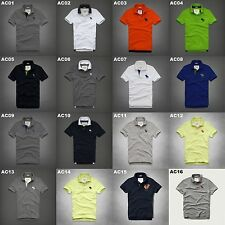 NWT ABERCROMBIE & FITCH MENS CASUAL MULTI COLOR POLO SHIRTS SIZE S,M,L,XL,XXL