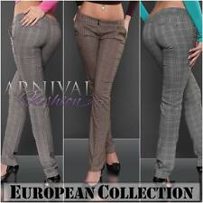 NEW ELEGANT checkered PANTS TROUSERS 8 10 12 14 womens FORMAL CASUAL WORK WEAR