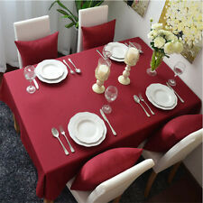 Home Textile Multi-purpos Rectangle Cotton Red Tablecloth Dining Table Cover
