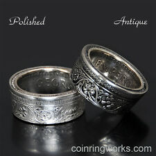 India 1939-1945 1 Rupee Silver Coin Ring