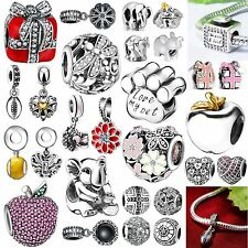 925 Silver Charms European Bead Fashion Jewelry Fit Brand New 3mm Bracelet Chain