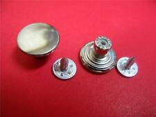 15mm Plain NO-SEW Metal Jean Tack Buttons Nickle Silver / Black / Brass