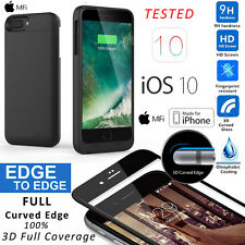 Full 3D Curvy Tempered Glass Screen Protector F iPhone 6 6s Battery Charger Case
