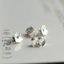 925 Sterling Silver 5mm Butterfly  Earring Backs