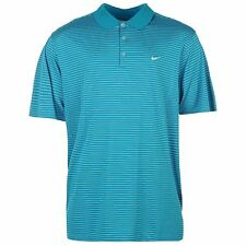Nike Victory Stripe Golf Polo Shirt Mens Light Blue Top T-Shirt Tee