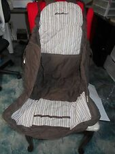 Eddie Bauer Shopping Cart /High Chair Cover; brown with stripes