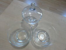 PRINCESS HOUSE CRYSTAL REVERE BOWLS WITH 2 PIECE CANDY DISH 385 430 NEW CDOM17
