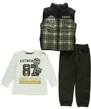 "Coogi Little Boys' ""Plaid 87"" 3-Piece Outfit (Sizes 4 - 7)"