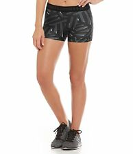 "UNDER ARMOUR WOMEN'S HEATGEAR COMPRESSION 3"" SHORTY SHORTS BLACK  #1297900-NWT"