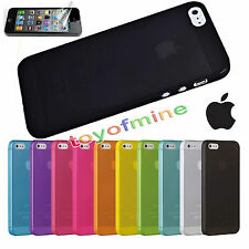 For iPhone 5S SE 0.3mm Silicone Ultra Thin Matte hard case cover Skin