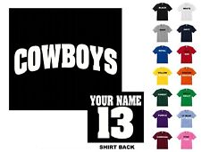 Cowboys College Letters Football Custom T-shirt #231 - Free Shipping