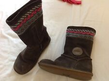 girls clarks suede boots. great condition. size 10.5 f