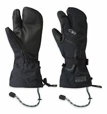 Outdoor Research Highcamp 3-Finger Gloves, Mens Waterproof, Black, S