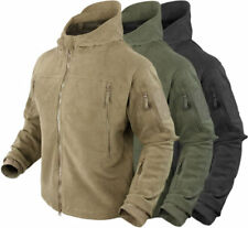 Condor SIERRA Hooded Fleece Jacket Stand Up Collar Slash Pockets Zipper Vents