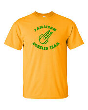 JAMAICAN BOBSLED TEAM Jamaica Reggae Olympics Winter Funny Men's Tee Shirt 754