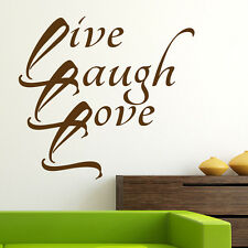 Wall Stickers Family Love Laugh Love Home Decor Decals Vinyl Art Wallpaper