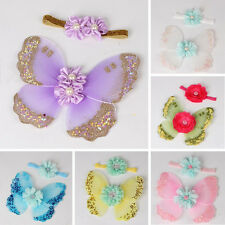 Newborn Baby Kids Girls Butterfly Wings Costume Photo Photography Prop Outfits