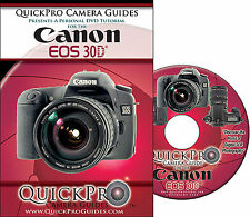 NEW QuickPro DVD Guide for Canon EOS 30D Camera, better than owner's manual