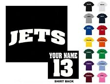 Jets College Letters Hockey Custom T-shirt #289 - Free Shipping