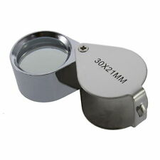 30X/40X Glass Magnifying Magnifier Jeweler Eye Jewelry Loupe Loop DP