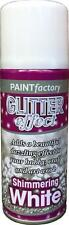 1x Glitter On White All Purpose Aerosol Spray Colour Paint Wood Metal Many More