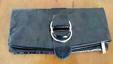 "Pre-owned Hobo International Clutch Wallet Black Patent Very Good Cond ""ELEGANT"""