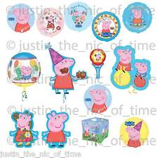 PEPPA & GEORGE PIG Party Foil Balloons Helium Happy Birthday BALLOON
