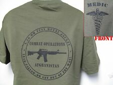 ARMY  MEDIC T-SHIRT/ MILITARY/ AFGHANISTAN COMBAT OPERATIONS T-SHIRT/  NEW