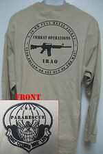USAF/ PARARESCUE LONG SLEEVE T-SHIRT/ IRAQ COMBAT OPS/ MILITARY/  NEW