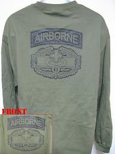 AIRBORNE COMBAT MEDIC LONG SLEEVE T-SHIRT/ MILITARY/ ARMY/  THICK/   NEW