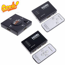 New 3/5 Port 1080P HDMI Selector Switcher Splitter Hub+Remote for PS3 HDTV LOT D