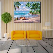 New 40*50cm DIY Paint By Number Kit Acrylic Oil Painting Sunny/Sunset Beach X5M5