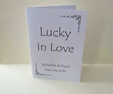 Personalised Scratch Card Lottery Ticket Card Holder Wedding Place Favour Gift 3